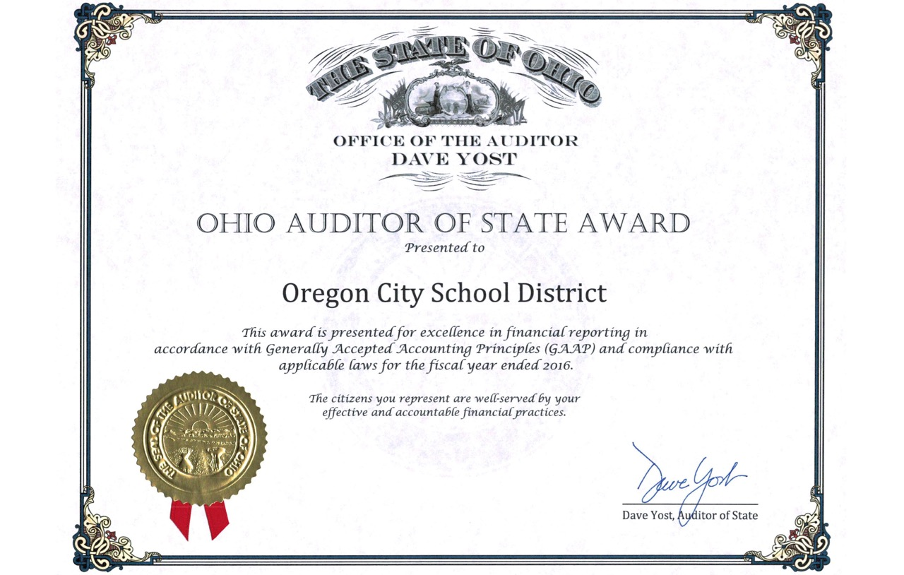 OCS receives Ohio Auditor of State Award