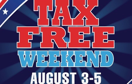 2018 Tax Free Weekend - August 3-5