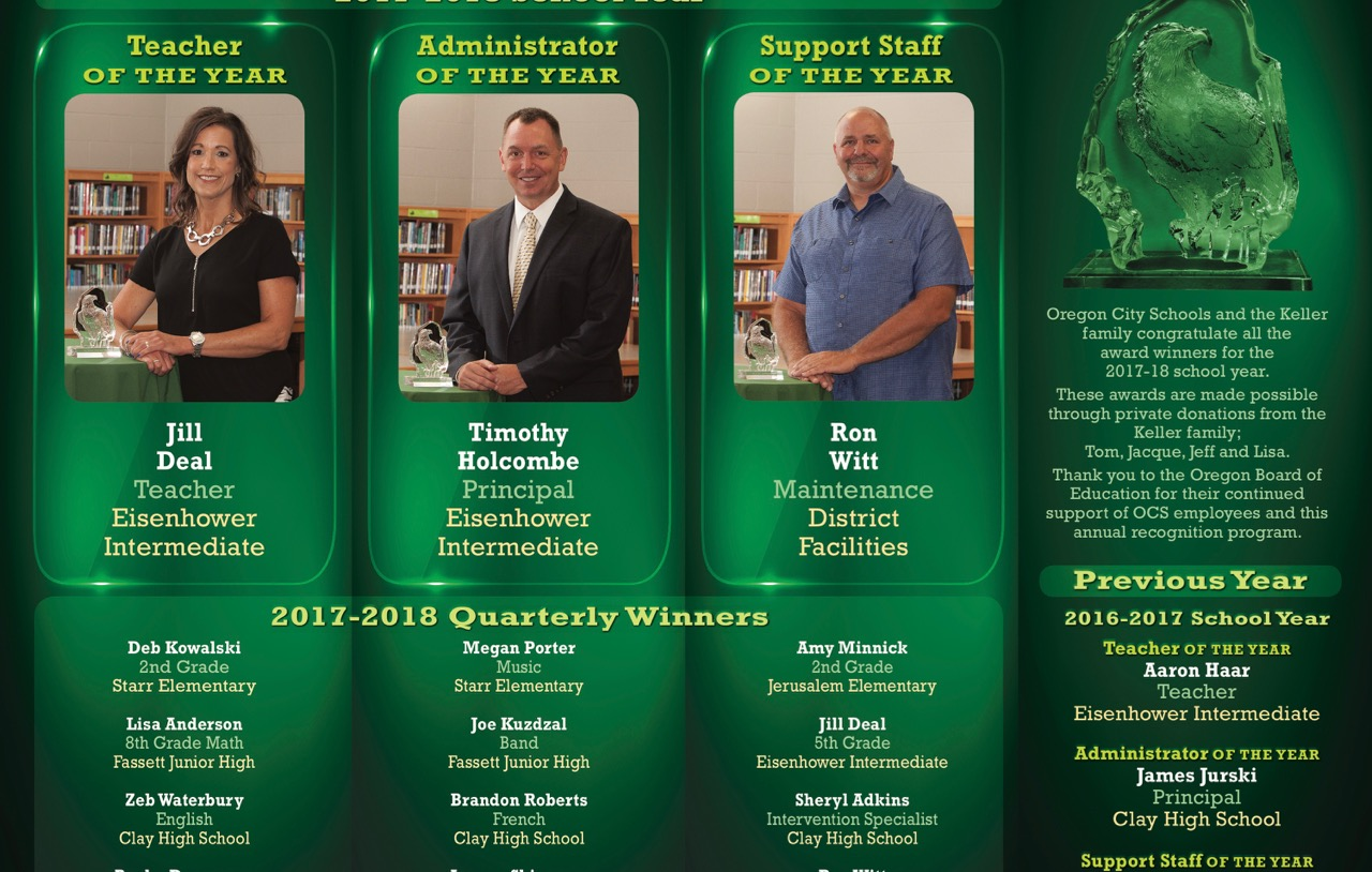 2018 OCS/Keller Family Employee Recognition Awards