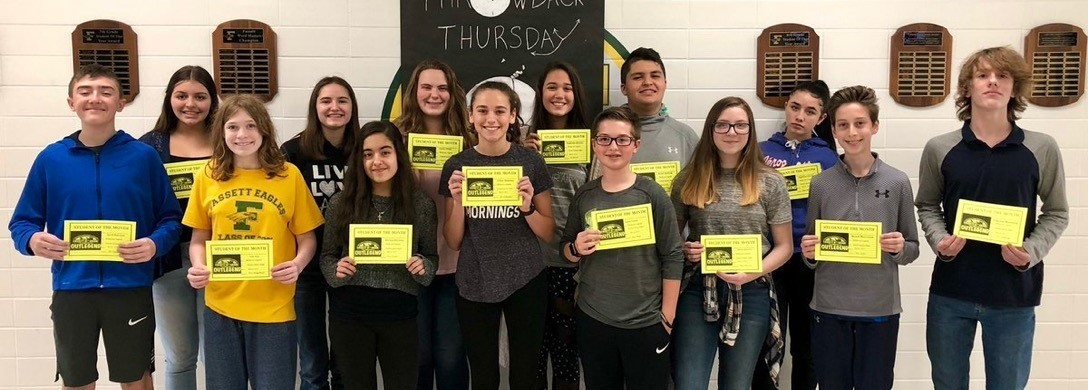 Fassett 8th Grade Students of the Month