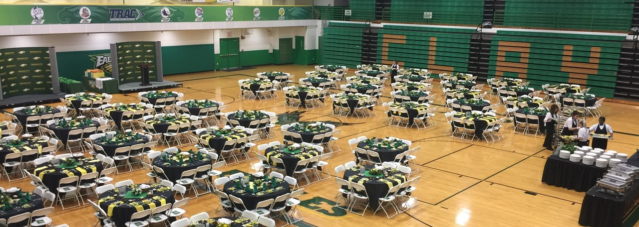"Clay ""Potter Gym"" ready for Honor's Banquet"