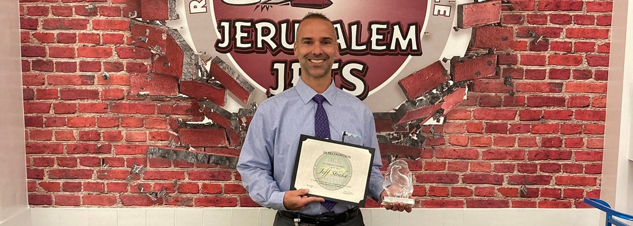 2021 Administrator of the Year - Jeff Straka - Jerusalem Elementary Principal